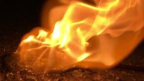 Burning stick stock footage