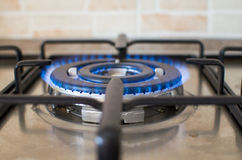 Burning stove cooker Stock Photography