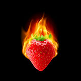 Burning strawberry Royalty Free Stock Image