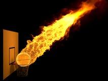 Burning strike Stock Photo