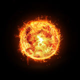 Burning sun vector illustration