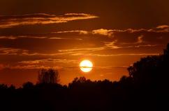 Burning Sun Royalty Free Stock Photography