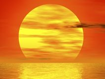 Burning sunset Royalty Free Stock Image