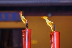 Burning in sync Stock Image