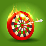 Burning target design Stock Image