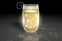 Burning tea lights. On black background Stock Photos