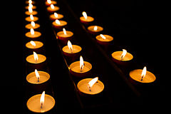 Burning Tea Lights Royalty Free Stock Images