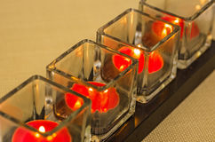 Burning tealights Royalty Free Stock Images