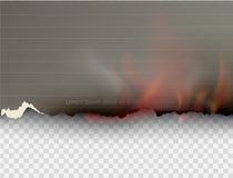 Burning templates torn paper with fire. Design multicolored burning templates torn paper with fire Stock Photos
