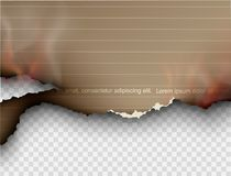 Burning templates torn paper with fire. Design multicolored burning templates torn paper with fire Stock Images