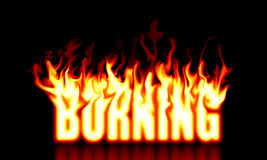 Burning Text Stock Image