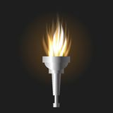 Burning torch Royalty Free Stock Images