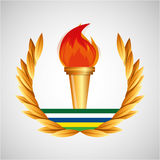 Burning torch olympic games emblem Royalty Free Stock Photos
