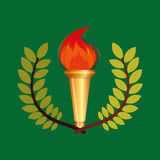 Burning torch olympic games emblem Royalty Free Stock Image