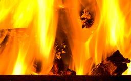 burning trä för brazier arkivbild
