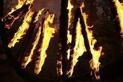 burning trän Royaltyfria Bilder