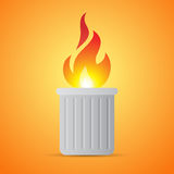 Burning Trash Can Royalty Free Stock Image