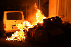 Burning trash Stock Photos