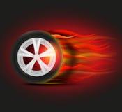 Burning Tyre Image Stock Photography