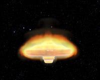 Burning ufo Stock Photos