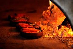 burning ugnsträ Arkivbild