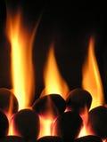 burning varmt royaltyfri bild