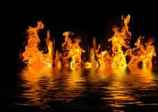 burning vatten Royaltyfri Foto