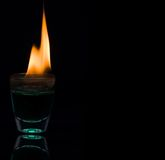 burning vatten Royaltyfri Bild