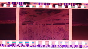 Burning vintage film stock footage