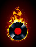 Burning vinyl record Royalty Free Stock Photography