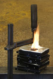 Burning vise and hard disks Stock Image