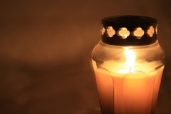 Burning votive light Royalty Free Stock Images
