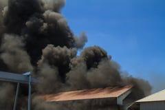 Burning warehouses Royalty Free Stock Photography