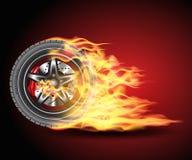 Burning wheel Royalty Free Stock Photos