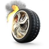 Burning wheel Stock Photos