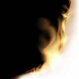 Burning white sheet Stock Photography