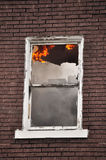 Burning Window Royalty Free Stock Images