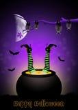 Burning witch Royalty Free Stock Image