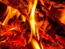 Burning Wood Stock Images