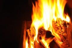 Burning wood Stock Photography