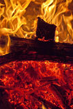 Burning Wood Royalty Free Stock Images