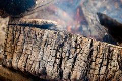 Burning wood Royalty Free Stock Images