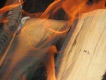 Burning of wood Royalty Free Stock Photo