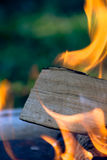 Burning wood Royalty Free Stock Image
