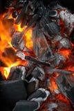Burning Wood Royalty Free Stock Photo