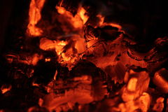 Burning wood. Flame of burning wood in a furnace Stock Photos