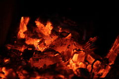 Burning wood. Flame of burning wood in a furnace Stock Image