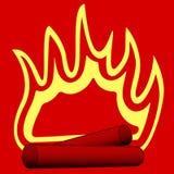 Burning wood illustration. Abstract illustration of the burning firewood Royalty Free Stock Photos