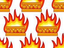 Burning wood pattern Stock Image