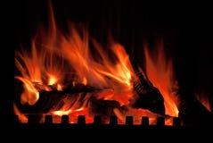 The burning wood Royalty Free Stock Images